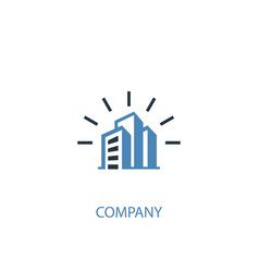 company concept 2 colored icon simple blue vector image