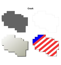 Crook Map Icon Set vector