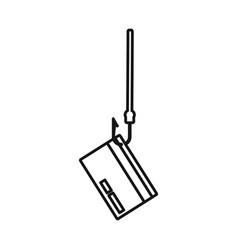 Design hook and credit sign set hook vector