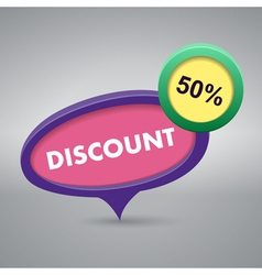 discount label on gray background vector image