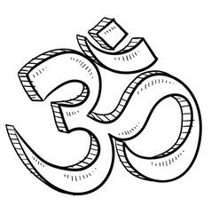 doodle yoga symbol vector image