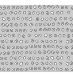 Draw circles seamless pattern Abstract gray vector image