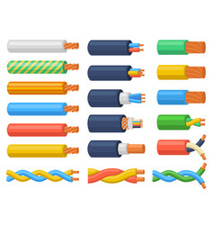 Electric copper core power supply wires cables vector