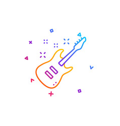 electric guitar line icon music sign vector image