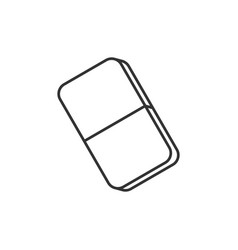 Eraser line icon vector