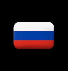 Flag of russia matted icon and button vector