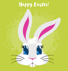 Funny cartoon easter rabbit vector