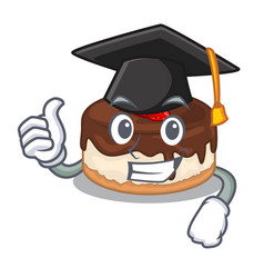 Graduation cake berries in character that fresh vector