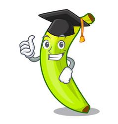 Graduation character natural fruit fresh green vector