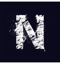 Grunge letter N vector