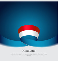 Indonesia flag background wavy ribbon vector