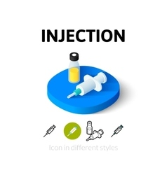 Injection icon in different style vector