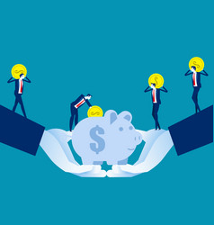 investment strategy business team saving vector image