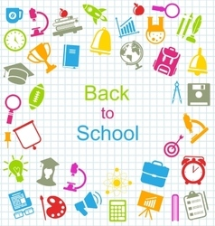 Kit of School Colorful Simple Objects vector image