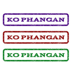 Ko phangan watermark stamp vector