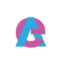 Letter ea linked colorful logo vector