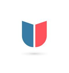 Letter u shield logo icon design template elements vector