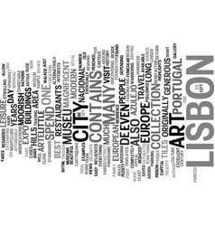 Lisbon the forgotten gem of europe text vector