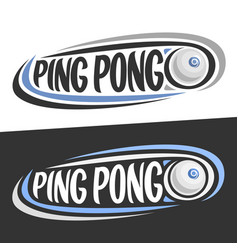 logos for ping pong vector image