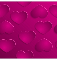 love hearts valentines day seamless pattern vector image