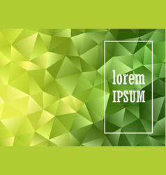 low poly abstract design background vector image