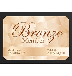 Luxury bronze member card vector