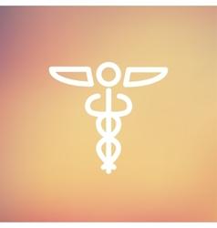 Medical Symbol thin line icon vector image