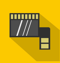 memory card icon flat style vector image