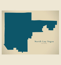 modern city map - north las vegas nevada city of vector image