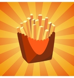 New bright french fries icon vector