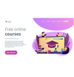 online courses concept landing page vector image