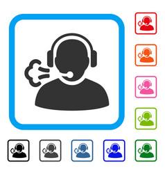 operator speech framed icon vector image