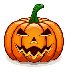 orange halloween pumpkin design vector image