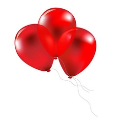 Party Red Balloons vector image