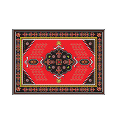 persian carpet with tribal geometrical ornamental vector image