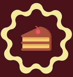 Piece a cake digital vector