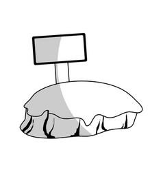 Piece of field icon vector