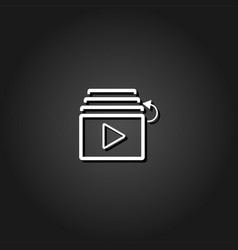 playlist icon flat vector image