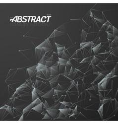 Plexus Style Fractal Polygonal Template vector image