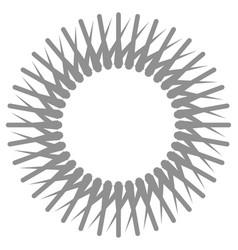 radial circular style geometric design element vector image