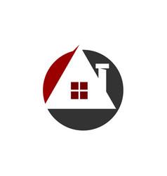 real estate design template modern solution vector image