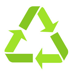 recycle symbol flat icon eco and delivery vector image