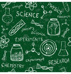 Scientific school board seamless pattern vector image