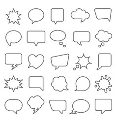 Set comic speech bubbles cartoon vector