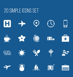 Set of 20 editable holiday icons includes symbols vector