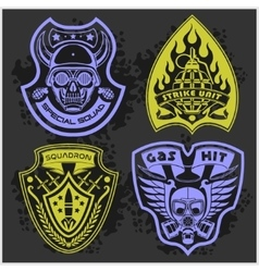 Set Of Military - Army Patches and Badges 4 vector image