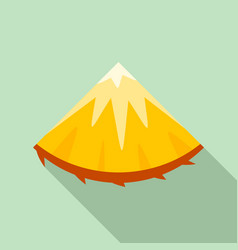 slice of pineapple icon flat style vector image