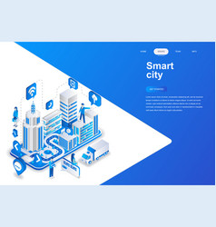 smart city modern flat design isometric vector image
