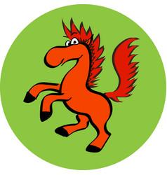 smiling cute horse cartoon mascot eps vector image