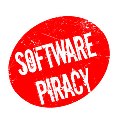 software piracy rubber stamp vector image